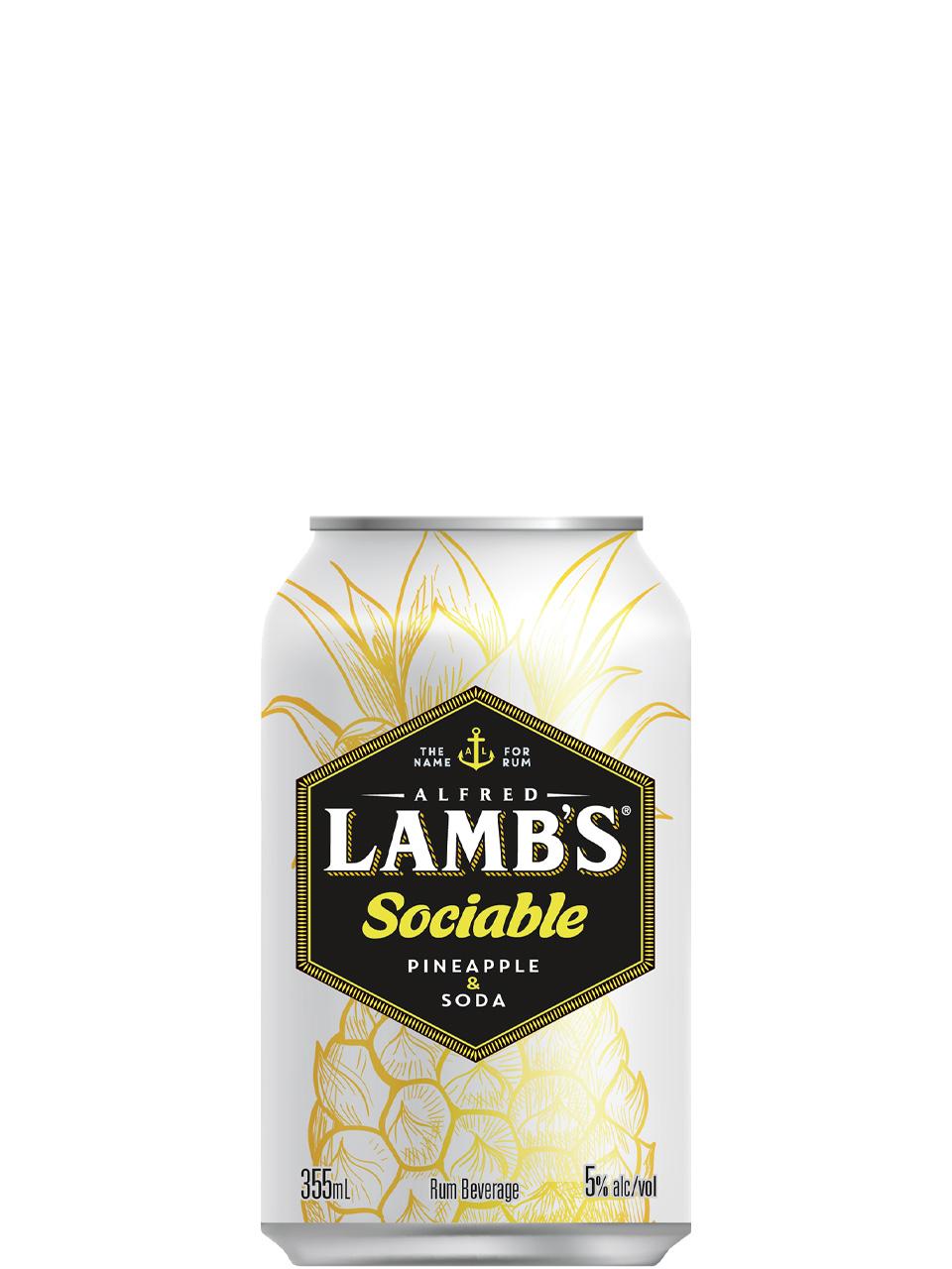 Lamb's Sociable Pineapple & Soda 6 Pack Cans