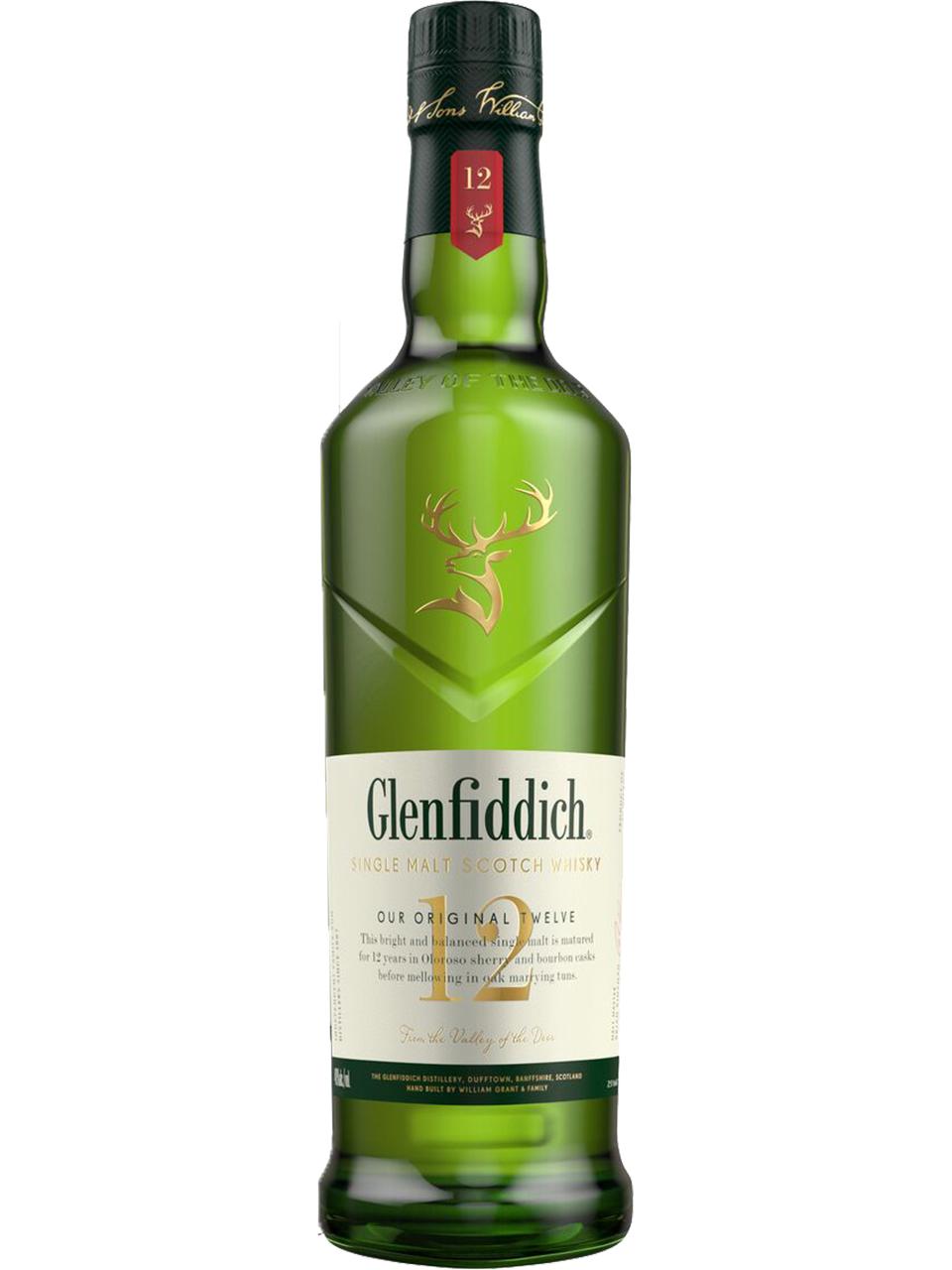 Glenfiddich Single Malt 12YO Scotch