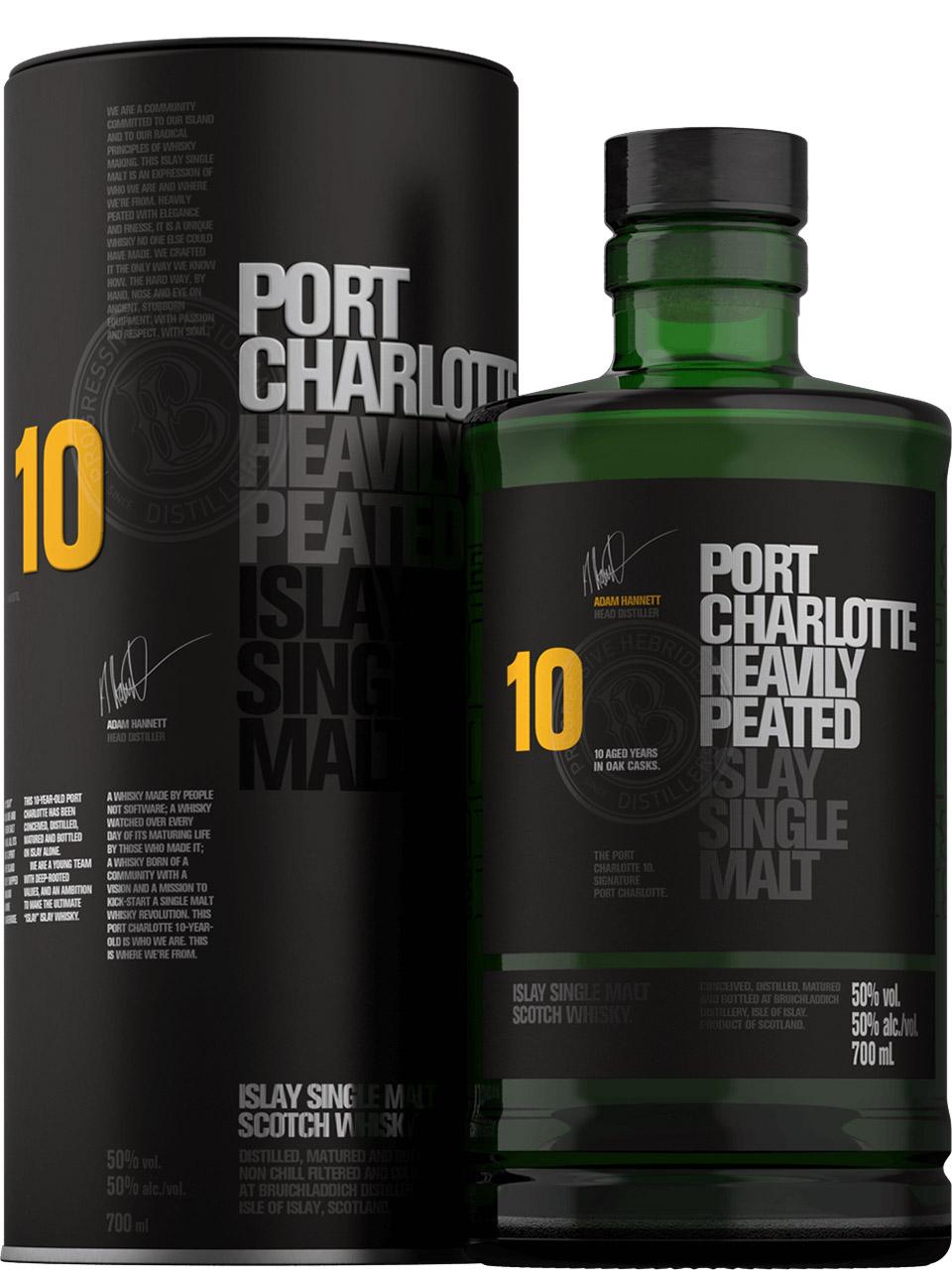 Bruichladdich Port Charlotte 10 Single Malt Scotch