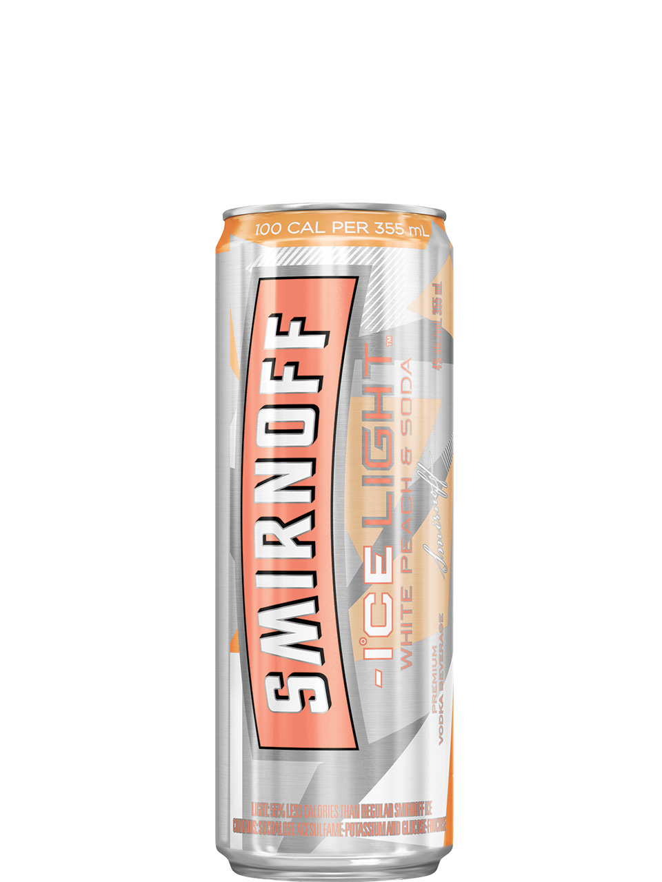 Smirnoff Ice Light White Peach & Soda 4 Pack Cans