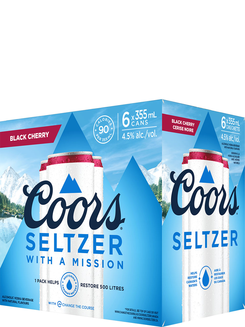 Coors Seltzer Black Cherry 6 Pack Cans