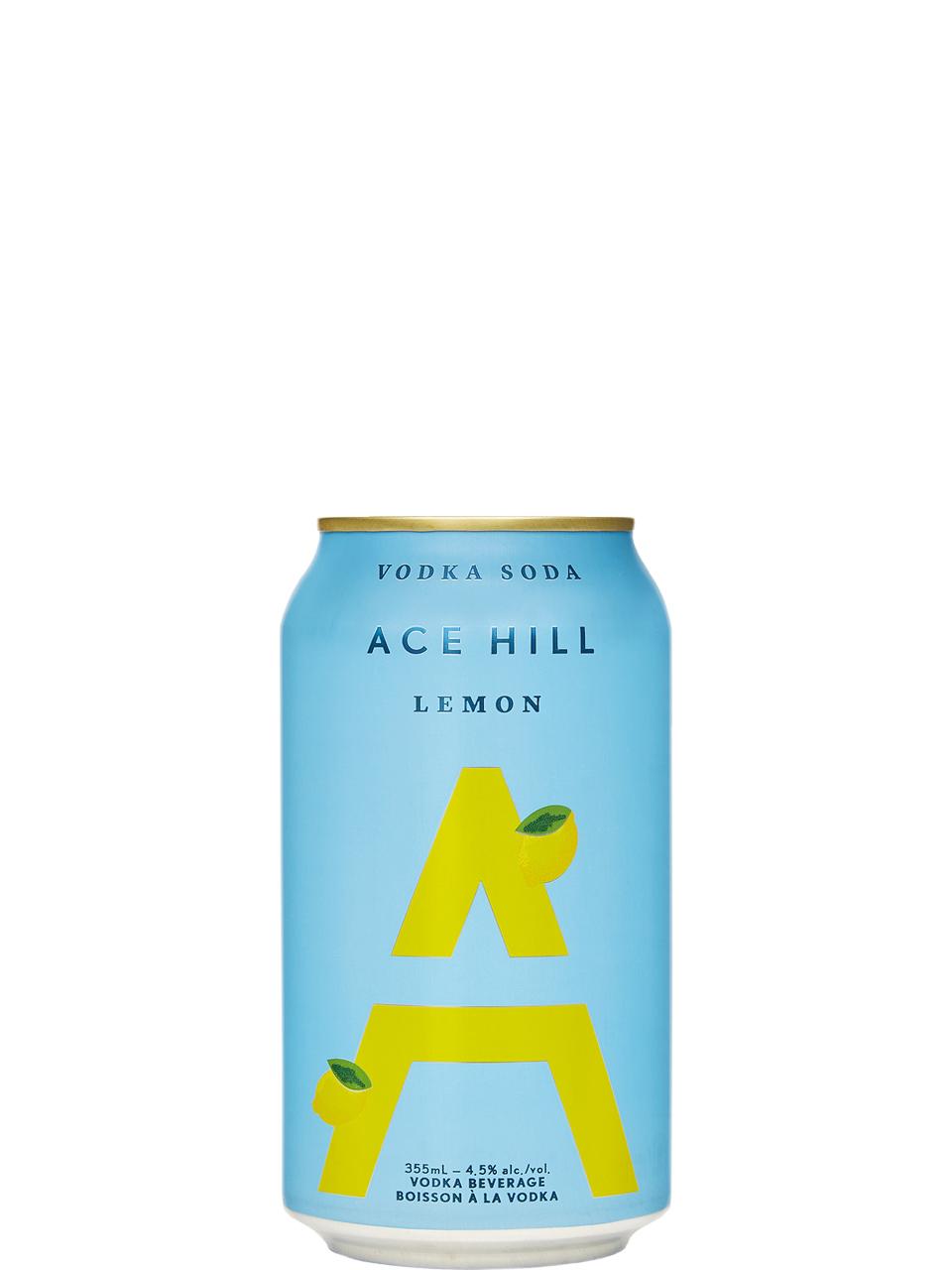 Ace Hill Lemon Vodka Soda 355ml Can